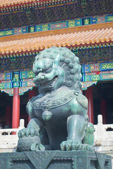 Free China Forbidden City Lion Stock Photo - 26364980