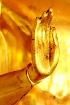 Golden Hand Of Buddha Statue, Royalty Free Stock Photos