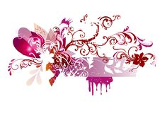 Free Floral  Vector Design In Pink Color Royalty Free Stock Image - 26369246