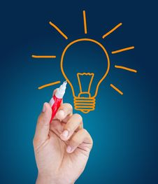 Free Light Bulb Concept Royalty Free Stock Photography - 26369267