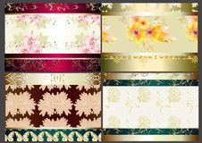 Free Floral Wallpaper Set With Seamless Elements Royalty Free Stock Photo - 26369275