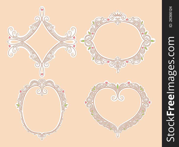 Four cute frames