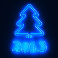 Free Neon Tree 2013 Royalty Free Stock Image - 26372426