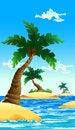 Free Small Coconut Island Royalty Free Stock Image - 26374766
