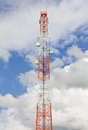 Free Telecommunication Mast With Cloudy Sky. Stock Photo - 26374790