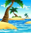 Free Small Coconut Island Royalty Free Stock Photography - 26374877