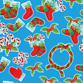 Free Christmas  Seamless Texture Pattern Royalty Free Stock Image - 26376726
