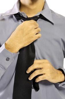 Free Adjusting Necktie Stock Photography - 26370632