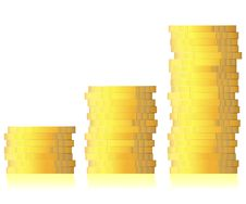 Business Graph Of Coins Growing Stock Photography