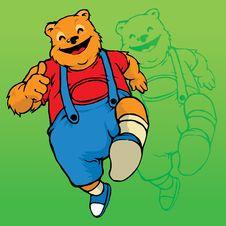 Free Happy Bear Mascot Royalty Free Stock Image - 26375916