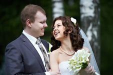 Free Portrait Bride And Groom Royalty Free Stock Photos - 26376918