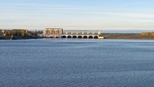 Uglich Hydroelectric Power Plant On The Volga Royalty Free Stock Image