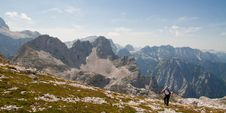 Free Hiker In The Mountains Royalty Free Stock Images - 26378219