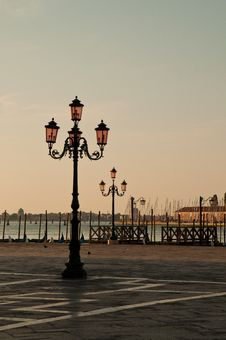 Free Morning Scene From Venice Royalty Free Stock Photo - 26378455