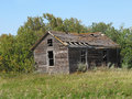 Free Old Rural Abandoned Wooden Collapsing House. Royalty Free Stock Images - 26380519