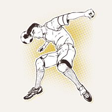 Free Soccer Player Heading The Ball Royalty Free Stock Photography - 26381687