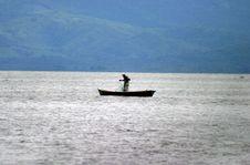 Free Fisherman In Lake Izabal Stock Photography - 26382162