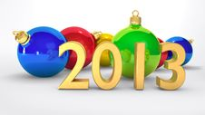 Free New Year 2013 Royalty Free Stock Photo - 26383635