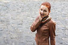 Woman Expresses Surprise Stock Photos