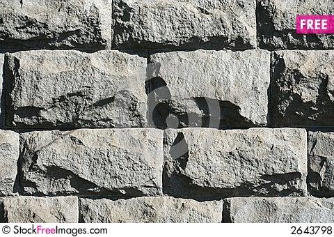 Free Rough Stone Wall Royalty Free Stock Photos - 2643798