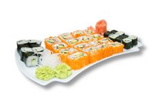 Free Sushi Plate Isolated On White Stock Image - 2640431