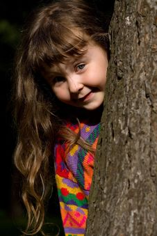 Free Girl In The Forest Royalty Free Stock Image - 2640646