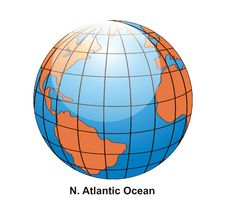 Free N. Atlantic Ocean Globe Royalty Free Stock Photo - 2640665