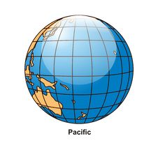 Free Pacific Globe Stock Images - 2640684