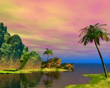 Free Beautiful Tropical Scene Royalty Free Stock Photography - 2640807