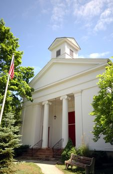 Free White Methodist Church Stock Image - 2640841