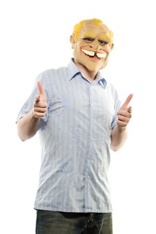 Free Man With A Mask Stock Image - 2641211
