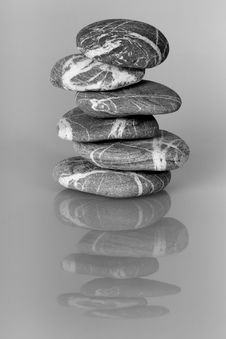 Cairn Of Balanced Stones Stock Image