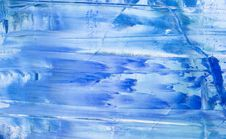 Free Blue Abstract Painted Backgrou Royalty Free Stock Photo - 2643365