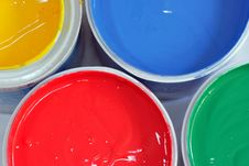 Free Colored Paints 2 Royalty Free Stock Image - 2643916