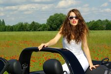 Free Summer Girl In Car Royalty Free Stock Photo - 2644165