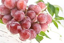 Wet Juicy Red Grapes Royalty Free Stock Image