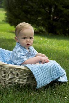 Free Basket Baby Royalty Free Stock Image - 2646216