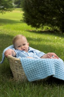 Free Basket Baby Stock Photography - 2646222