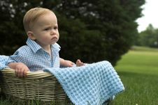 Free Basket Baby Stock Photo - 2646300