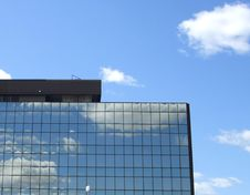 Free Clouds Over Mirrored Building Stock Photography - 2646302