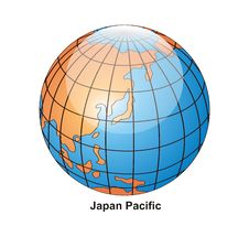Free Vector Japan Pacific Globe Royalty Free Stock Image - 2646556