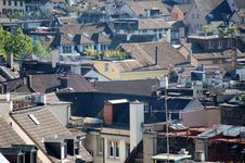 Old Swiss Rooftops Royalty Free Stock Photos