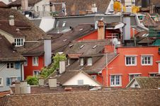 Old Swiss Rooftops Stock Photos
