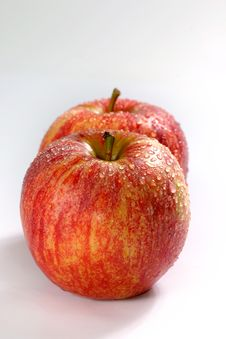 Fresh Couple Apple Stock Photography