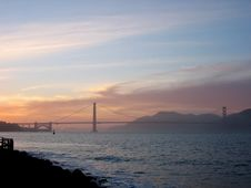 Free Golden Gate At Sunset Royalty Free Stock Photo - 2648875