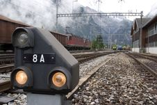 Free Railway Signal In Kandersteg Stock Photography - 2649662
