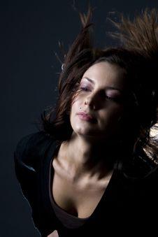 Free Hair Throw Woman Royalty Free Stock Image - 2649836