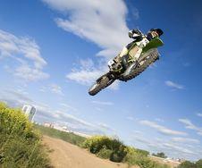 Free Flying Moto Stock Images - 2649844