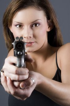 Free Handgun Girl Stock Photos - 2649893