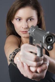 Free Handgun Girl Royalty Free Stock Photos - 2649898